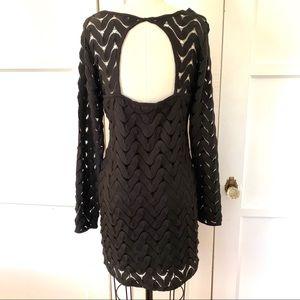🖤 Like New Free People Open Back Black Knit Dress